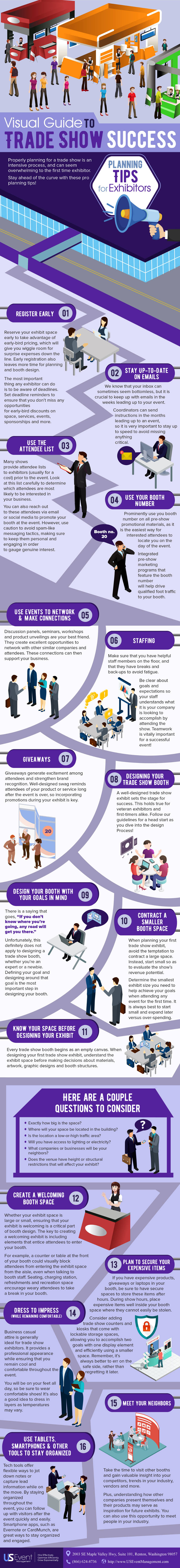 trade show best practices infographic